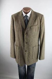 Tom-Tailor-braun-meliertes-Tweed-Sakko-Gr-54-Synthetik-Wolle-Seide-Top-Zustand