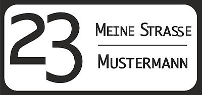 Analytisch Hausnummer-namensschild Acrylglas Schwarz, 315 X 140 X 3 Mm Gut FüR Antipyretika Und Hals-Schnuller