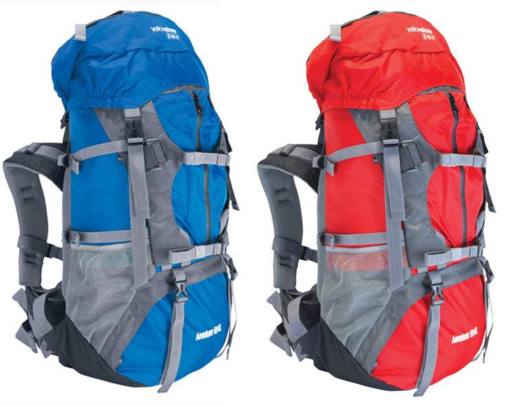 Avventurieri viaggio campeggio Escursionismo Zaino Zaino Borsa Blu o Rosso 55 65 LITRO L