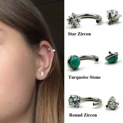 Earrings Piercing Septum Horseshoe Tragus Lip Circular Ear Barbell