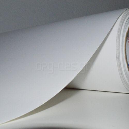 6,56€//m² Plot Klebefolie Möbelfolie BLASENFREI bekleben Weiß Matt 61cm breite