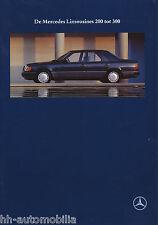 Prospekt Mercedes W 124 1991 9 91 NL 300 E-24 260 E 250 D 230 200 Autoprospekt
