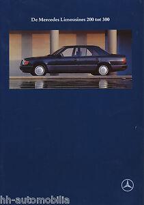 Mercedes-W-124-Prospekt-1991-9-91-NL-300-E-24-260-E-250-D-230-200-Autoprospekt
