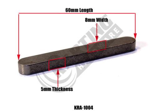 2 Pack 8mm X 5mm X 60mm Go Kart Racing Flat Rear Axle Key