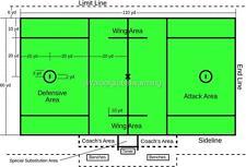 Old Print. Official Men's Lacrosse Field Dimensions Diagram