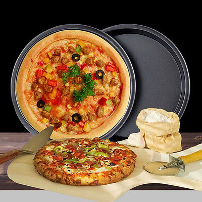 "5""-10"" Non Stick Round Pizza Pan Tin Cake Oven Cookware Baking Tool Tray Mold"