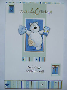 SUPER-HAPPY-BEAR-AND-CARD-YOURE-40-TODAY-40TH-BIRTHDAY-GREETING-CARD