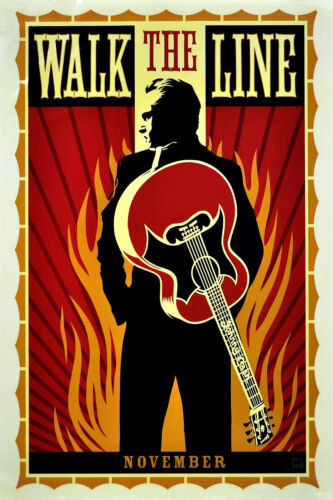"""Walk The Line"" .Johnny Cash Classic Movie Poster Various Sizes"