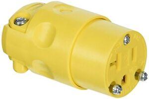 2 Pk Leviton 20A 125V 3-Wire 2-Pole 5-20P Electric Cord Plug 010-520PV-000