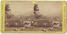 Lourdes France Photo Stéréo Vintage albumine ca 1870