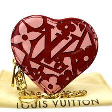 Auth LOUIS VUITTON Heart Coin Purse Case Sweet Monogram Pomme D'amour 66S351