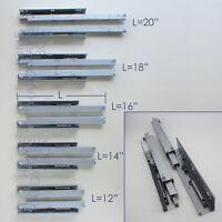 Full Extension Undermount Soft Close Drawer Slide 12 14 16 18 20