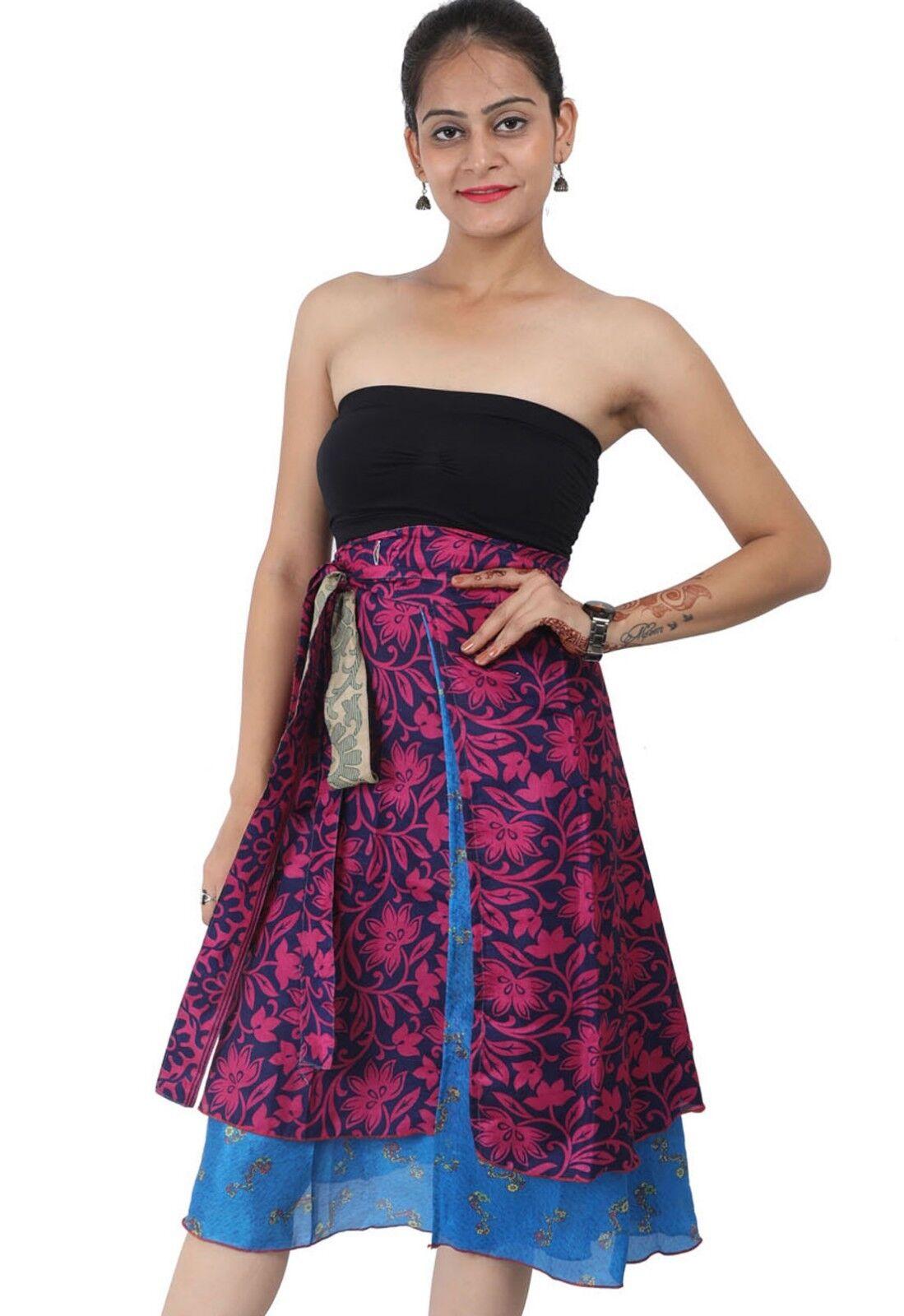 5 Skirts Wholesale Magic Wrap Skirt Long Sari Halter Sari Sarong 36