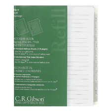 Cr Gibson Address Book Refill Pages With Tab Index Dividers Z211