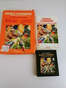 Vintage Boxed Atari 2600 game Missile Command Tested & Working