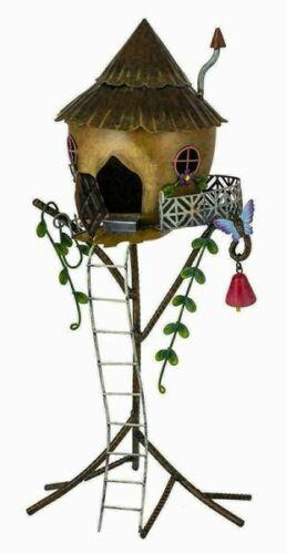 Nova Casa De Palha De Fada Com Escada De Metal Decoração Enfeite De Jardim