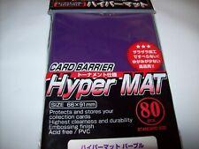 x5 packs KMC 80 STANDARD MTG CARD SLEEVES Hyper Matte Mat Black Total 400