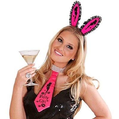 Focoso Cravatta Cravatta Tie Satin Rosa Party Girl Carnevale-mostra Il Titolo Originale Asciugare Senza Stirare