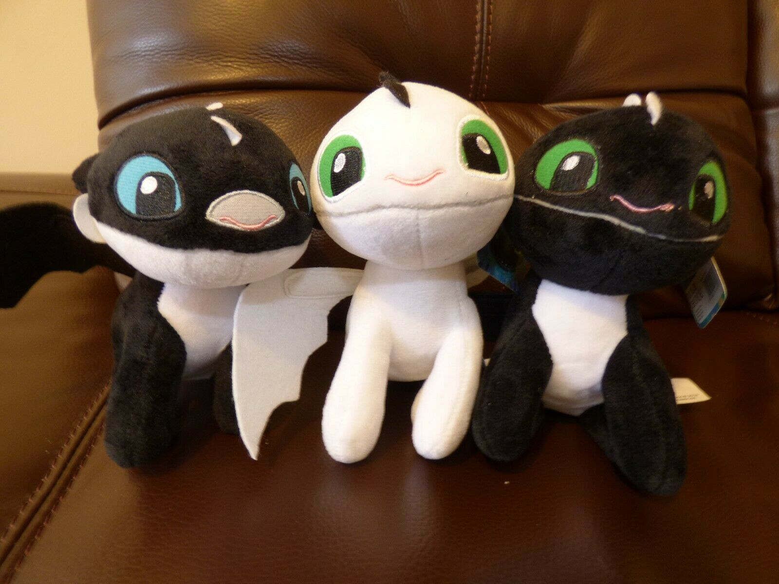 Bundle 3 How to Train Your Dragon Night Light Fury Baby Soft Cuddly Plush Toy