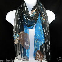 Jesus Sea Galilee Scarf Womens Christian Religious Scarfs Gift Black Scarves