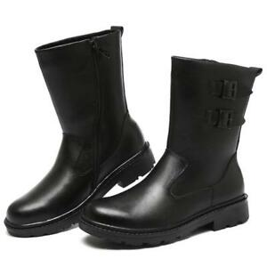 Mens-Leather-Warm-Fur-Lining-Korean-Winter-Snow-Mid-Calf-Ankle-Boots-Waterproof