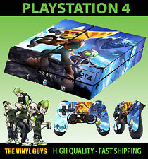 PS4 Skin Ratchet and Clank Lombax Mechanic New Sticker + 2 X Pad decal Vinyl LAY