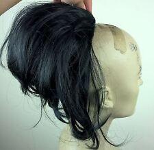 black fake pony tail hair bun wedding updo extension piece fancy dress