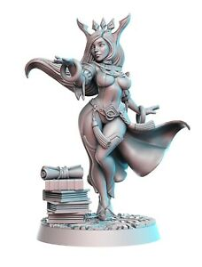 SHAPPIRE-SEXY-FEMALE-MAGE-SCALE-32mm-MORDHEIM-ZOMBICIDE-DnD-ROL-WARHAMMER