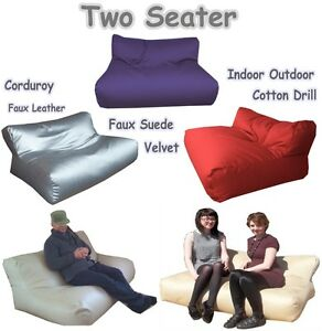 Kids-Adult-Sofa-Bag-Two-seater-Bean-Bag-Lounger-Sette-Beans-Couch-Beads-Bed-Bags