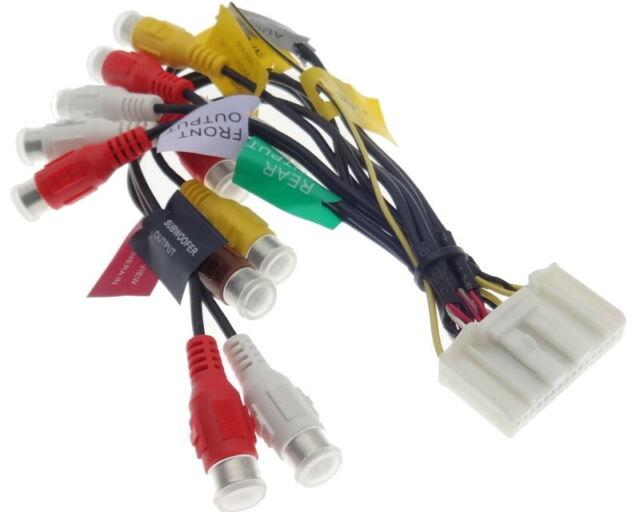 PIONEER AVIC Kabel 20pin X1 X3 X1BT RCA Cinch Verst/ärker Remote Radio Adapter AV
