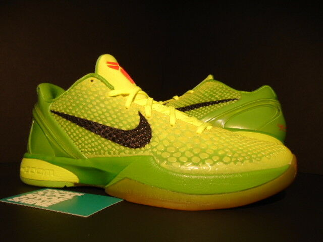 2010 NIKE ZOOM KOBE VI 6 CHRISTMAS GRINCH VOLT BLACK APPLE CRIMSON 429659-701 9