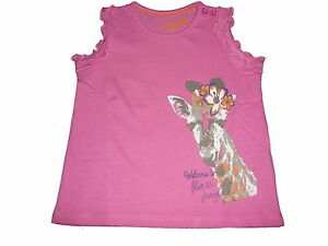 NUOVO Lupilu fantastico T-SHIRT Tg. 86/92 rosa con motivo giraffe!!!  </span>