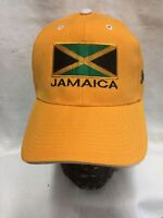 Jamaica Yellow Baseball Cap With Flag Badge Rasta Roots Reggae