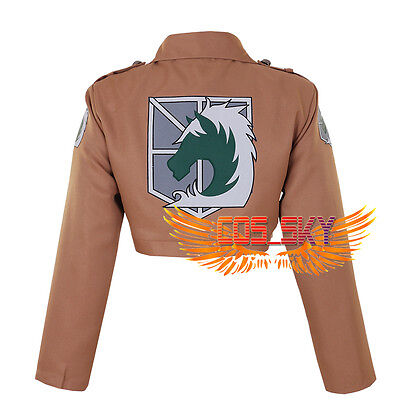 New Attack on Titan Shingeki no Kyojin Military Police Jacket Cosplay Costume