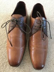 Burton Mens Tan Brown Lace Up Formal Wedding Shoes. Size 8. Worn Once