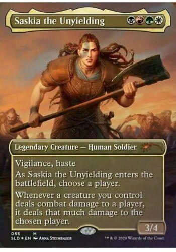 Preorder Foil Saskia the Unyielding MTG Secret Lair International Women/'s Day