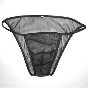 5a68954b3624 G7107 Mens Sexy String Bikini Contoured Posing Pouch C-thru Mesh Net ...