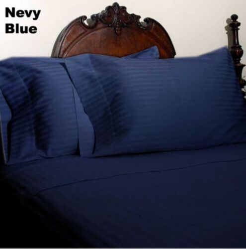1000tc Egyptian Cotton Home Bedding Collection King Size Solid//Striped Colors