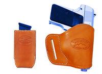Barsony Tan Leather Yaqui Holster + Mag Pouch Na Arms Llama Minipocket 22 25
