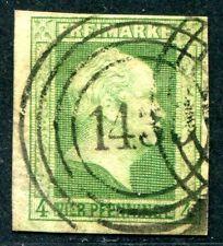 PREUSSEN 1856 5 gest NUMMERNSTEMPEL 1430 WALDBÖCKELHEIM sign Thier (S1166