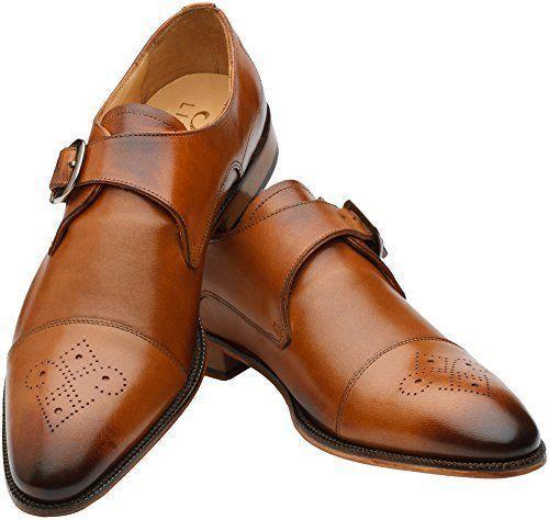 3 DM Lifestyle Richelieu à Monkstrap Cuir Tan Chaussures Taille  8 Neuf  Livraison gratuite