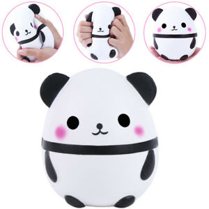 Jumbo Squishy Kawaii Panda Bear Egg Candy Soft Slow Rising Stretchy Squeeze Kid Toys Relieve Stress Phone Straps Children Gifts Traveling Advertising Collectibles