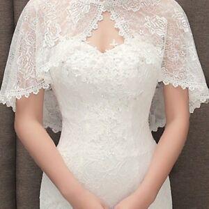 4ea7ec8541 Bridal Lace Shrug Bolero Cape Wrap Jacket Shawl Capelet Tippet ...