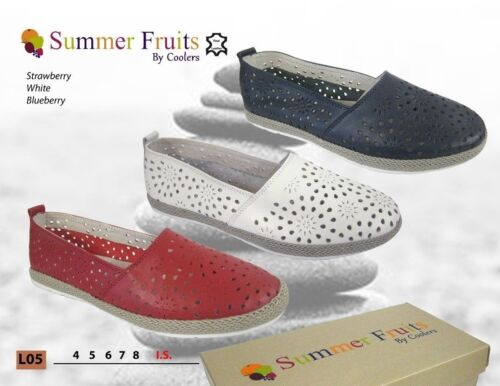 Summer Fruits by Coolers Ladies Casual Shoes Slip On  Beach Holiday   FREE POST