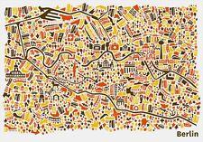 Berlin Stadtplan Poster Vianina Poster Kunstdruck Bild 70x100cm - Portofrei