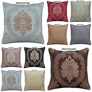 HOME-DECORATION-JACQUARD-FLORAL-FLOWER-CUSHION-COVERS-OR-FILLED-18-034-x18-034-FREE-P-amp-P