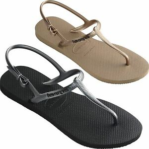 955a9ad9e50df0 Image is loading Havaianas-Womens-Freedom-Flip-Flops-Sandals-Black-Rose-