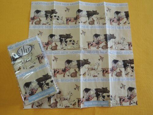 Taschentücher Tiere 1 Packung Ihr servietten Kuh Schwein Schaf Maus Hase Küken