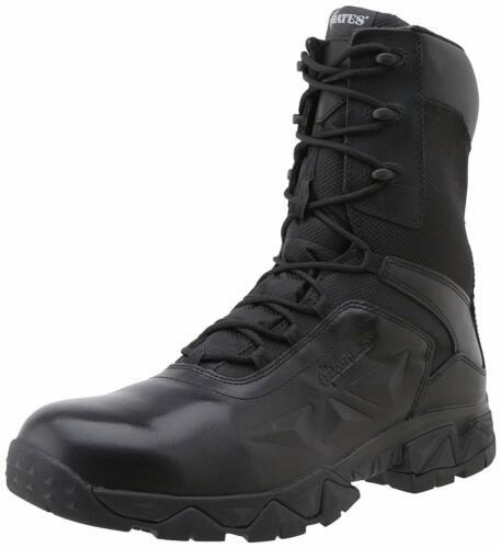 Black Bates 2349 Men/'s Delta Nitro-8 Side Zip Work Boot Military Style Boots
