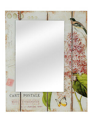 ♥ French Vintage Shabby Chic Style Glass Frame Mirror - Carte Postale - BN ♥